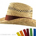 Palarii promotionale din paie, unisex - Cow Boy Straw Hat SCP3