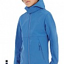 Jachete promotionale de copii, cu gluga si - Hooded Softshell Kids JK969