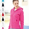 Jachete promotionale de dama cu gluga, buzunare si fermoar - Lady Fit Hooded Sweat Jacket 62-118