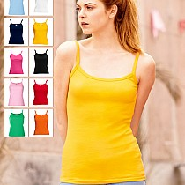 61 024 0 Maieuri_promotionale_colorate_de_dama Lady Fit Strap T Fruit of the Loom